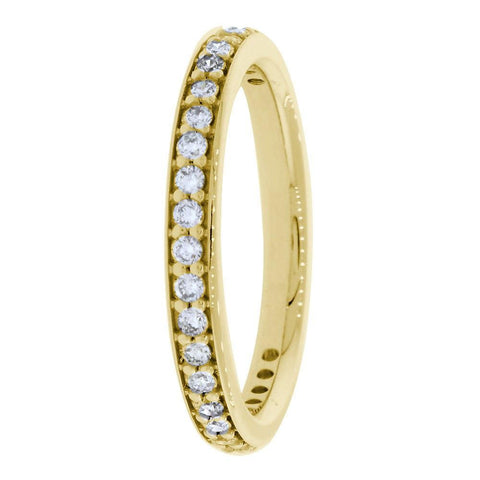 Diamond Wedding Band, 0.30CT Total  in 18k Yellow Gold