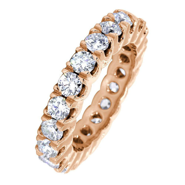 Diamond Eternity Band, 2.55CT Total in 14k Pink, Rose Gold