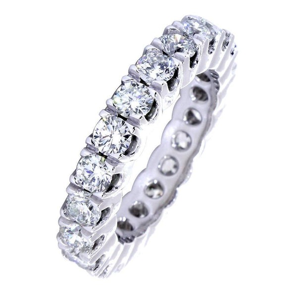 Diamond Eternity Band, 2.55CT Total in 14k White Gold