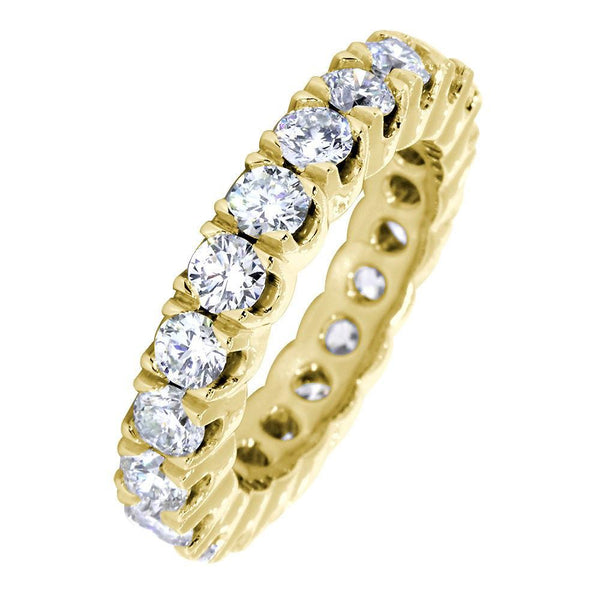 Diamond Eternity Band, 2.55CT Total in 14k Yellow Gold
