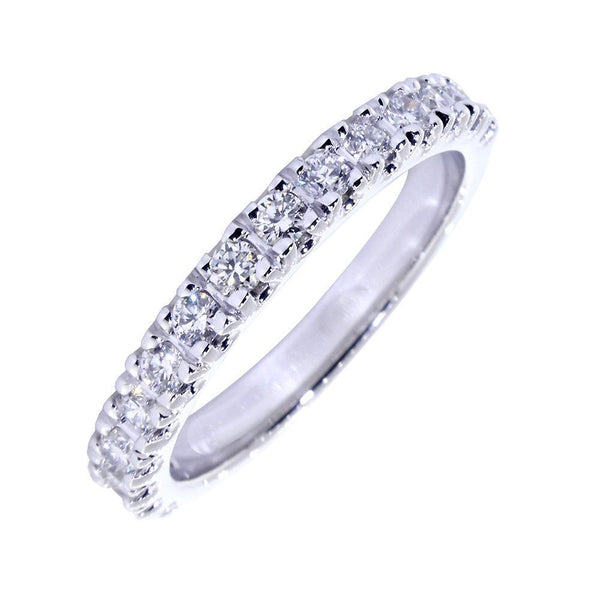 Diamond Wedding Band Set with 4 Prongs, 0.45CT Total in 14k White Gold