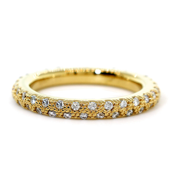 Solid Stackable Diamond Eternity Band, 0.53CT in 14K Yellow Gold