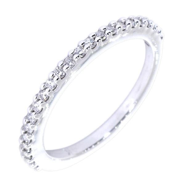 Thin Diamond Wedding Band, 0.34CT in 14k White Gold