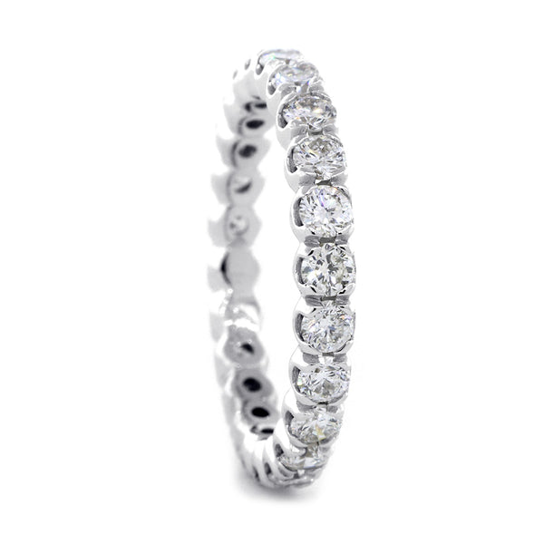 Diamond Eternity Band, Low Profile Version, 1.44CT in 14K White Gold