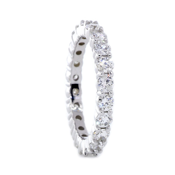 Round Diamonds Shared Prong Eternity Band, 1.60CT in 14K White Gold