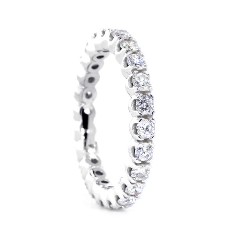 Diamond Eternity Band, Higher Profile Version, 1.44CT in 14K White Gold