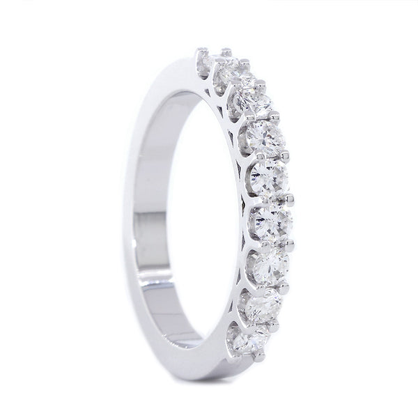 Diamond Wedding Band, 0.54CT in 14K White Gold