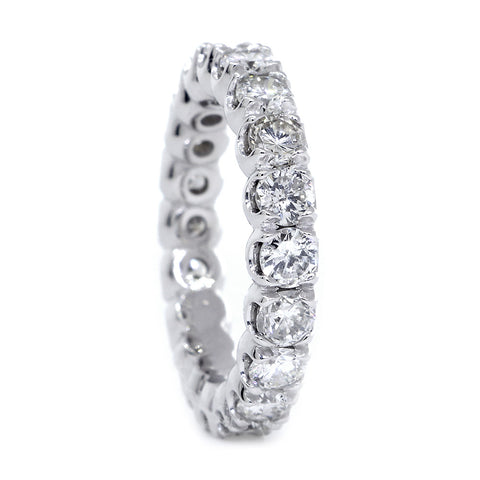 Round Diamonds Eternity Band, 2.40CT in 14K White Gold