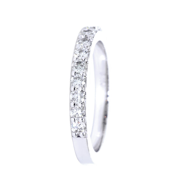 Diamond Wedding Band Set Almost Halfway, 0.50CT in 14K White Gold