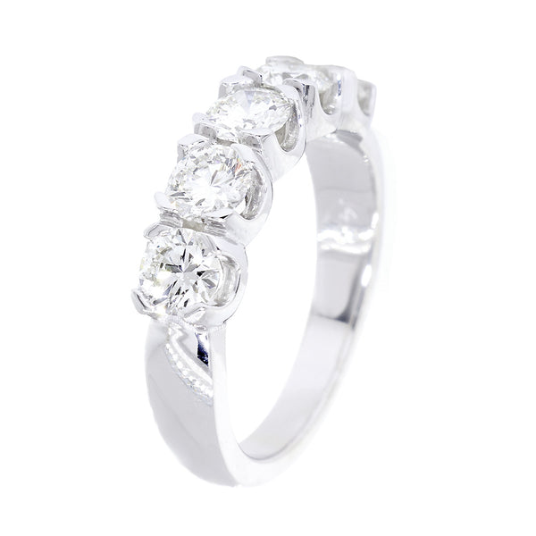 GIA Certified Diamond Wedding Band, 1.26CT in 14k White Gold