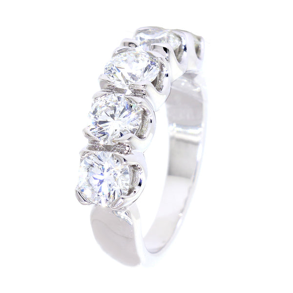GIA Certified Diamond Wedding Band, 2.00CT in 14k White Gold