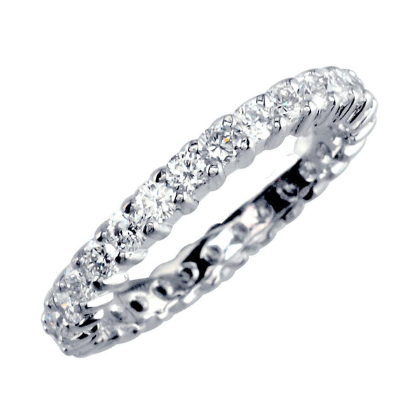Eternity Band with Round Diamonds, 1.24CT in 14K White Gold
