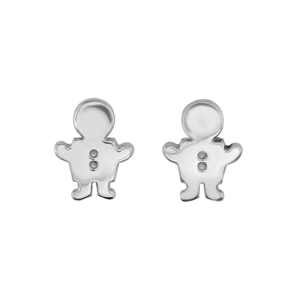 Mini Sziro Boy Earrings with Post Backs in Sterling Silver