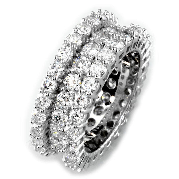 Three Row Eternity Band E/W-K00028W