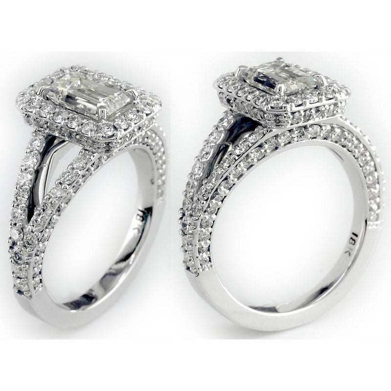 Diamond Engagement Ring Setting, 1.30CT in 18K White Gold
