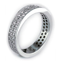 Diamond Band with 2 Rows, 1.15CT in 18k White Gold