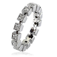 Ladies Diamond Stacker Ring, Square Settings LR-K00354W15