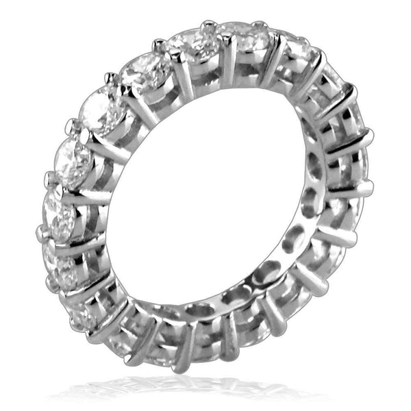 Diamond Eternity Band with Basket Settings, 3.05CT in Platinum