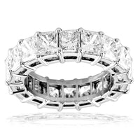 Radiant Cut Diamonds Eternity Band, 7.40CT in 18k White Gold