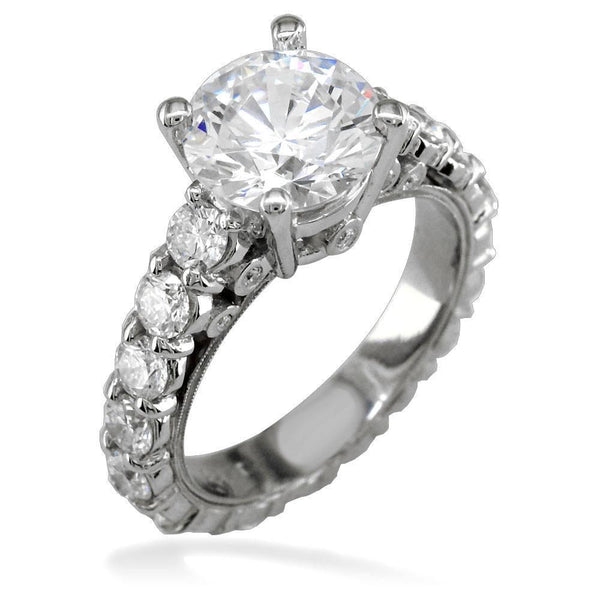 Diamond Engagement Ring Setting in Platinum, 2.50CT