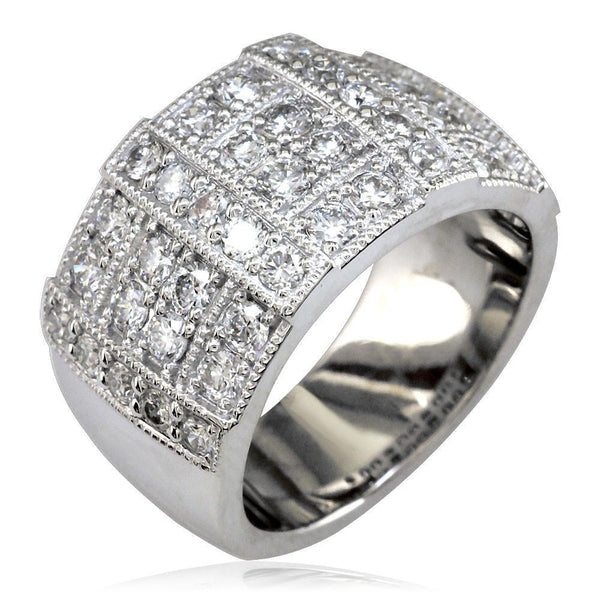 Wide Diamond Band in 14K, 1.62CT