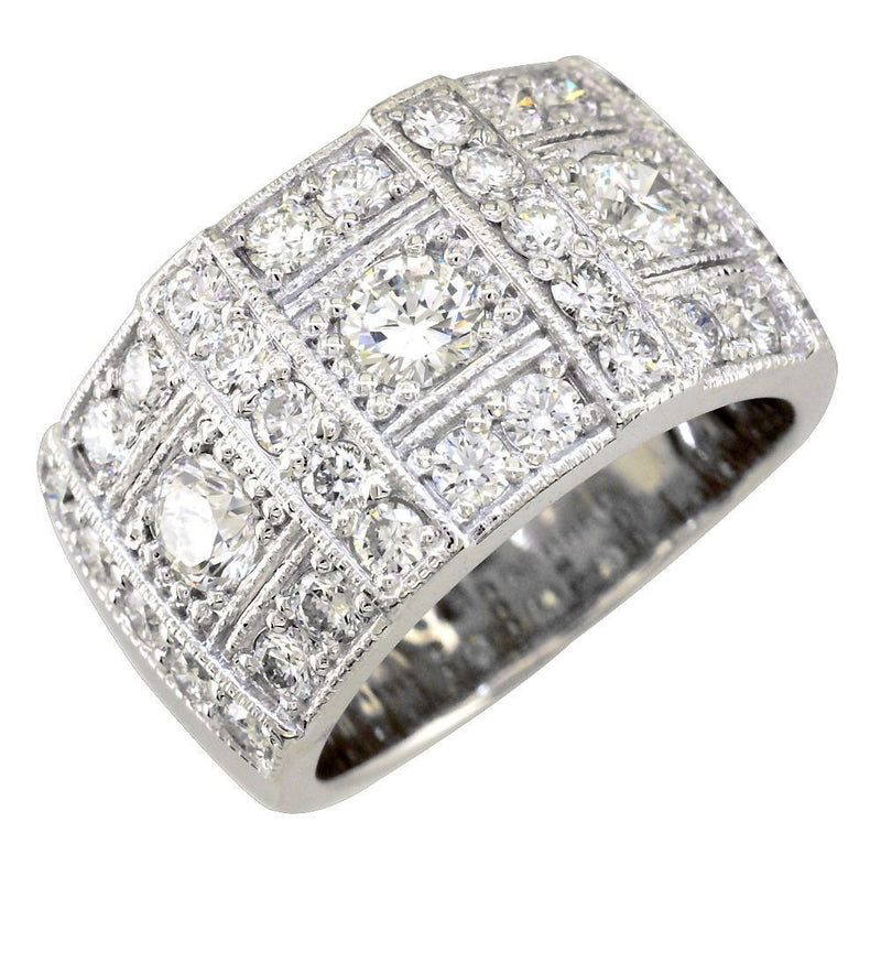 Wide Diamond Band in 14K, 1.90CT
