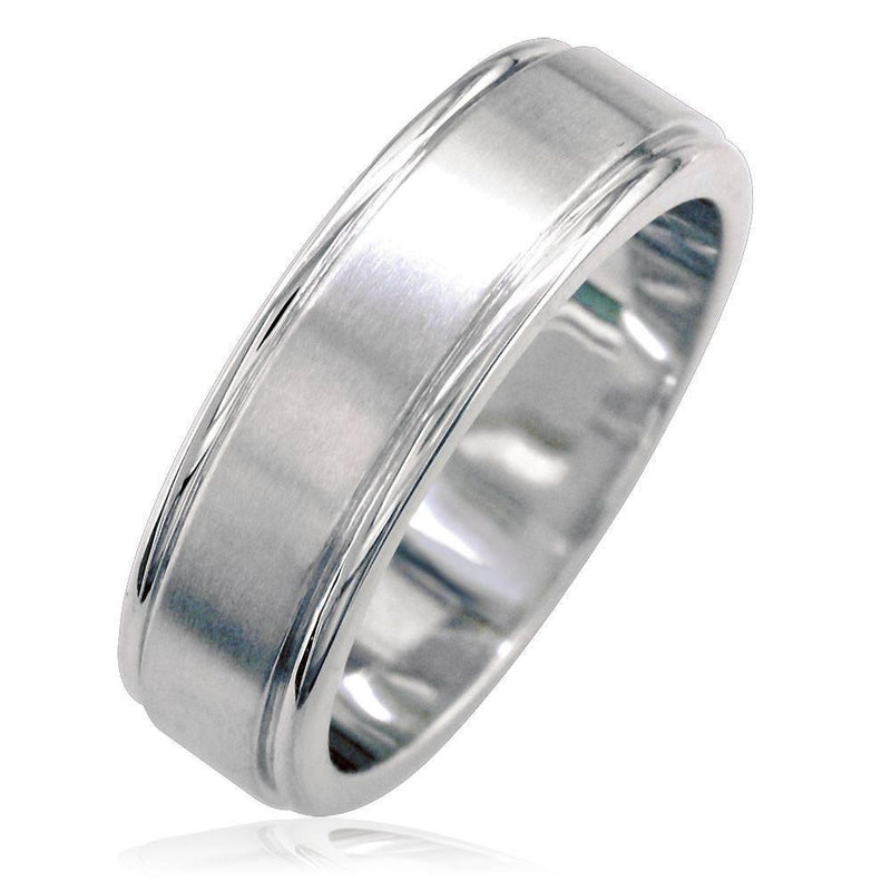 Mens 6mm Domed Band in 14K