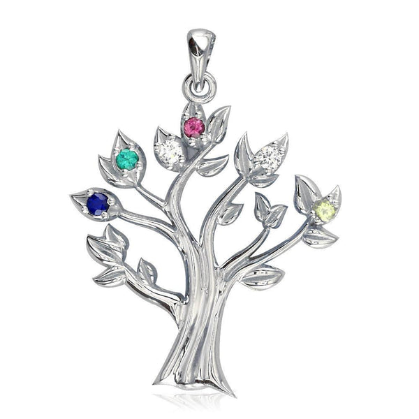 Family Tree Birthstones Pendant P-K0256