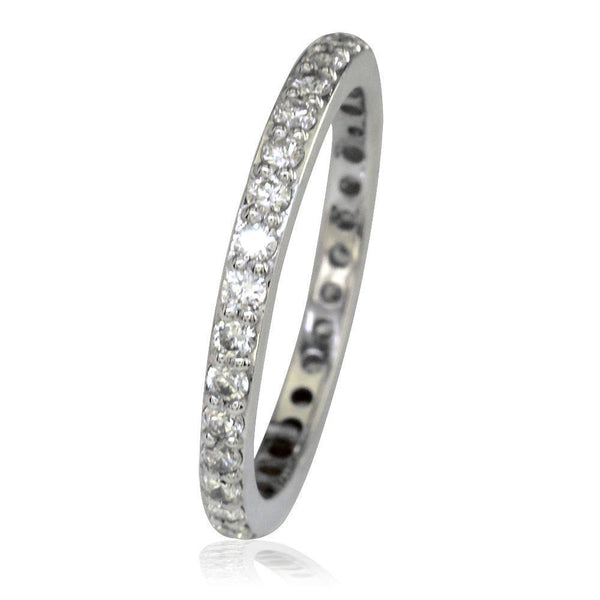 Matching Diamond Wedding Band, Flat, Full Eternity 0.75CT