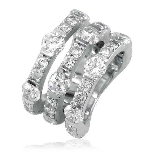 3 Row Diamond Ring LR-K0434
