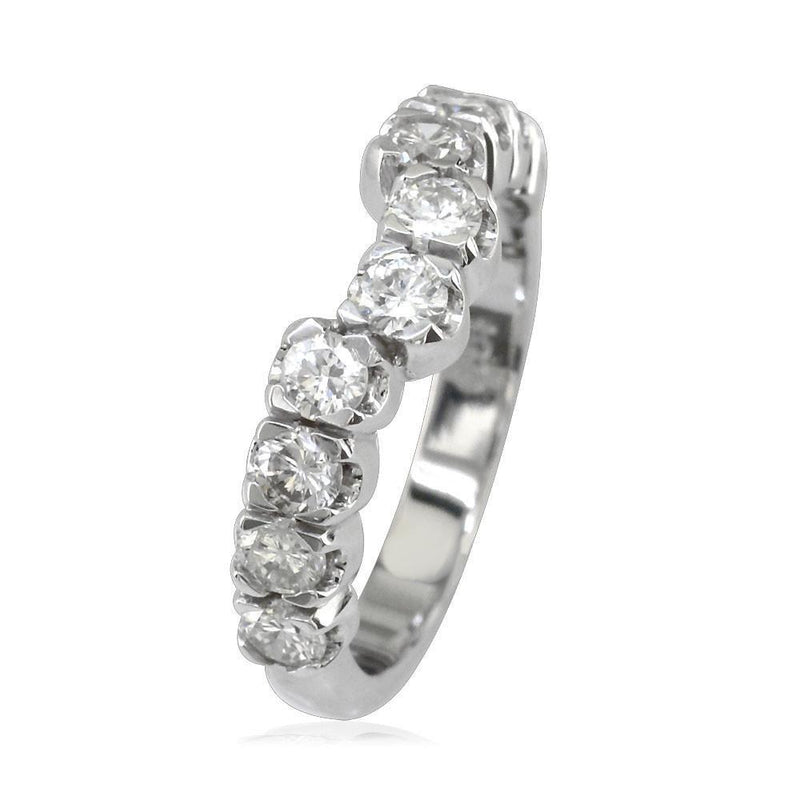 Matching Diamond Band in 18K, 0.91CT