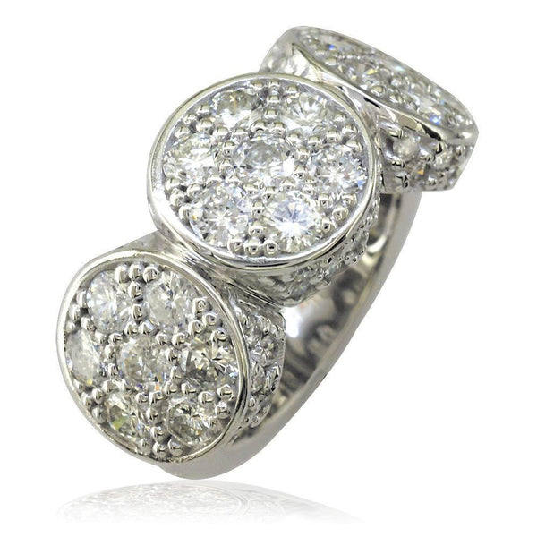 2 Round Diamond Circles LR-K0467