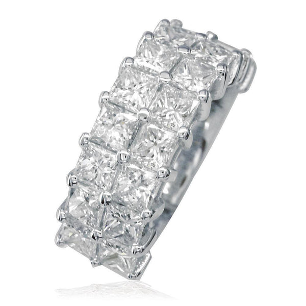 2 Row Princess Cut Diamond Band LR-K0494