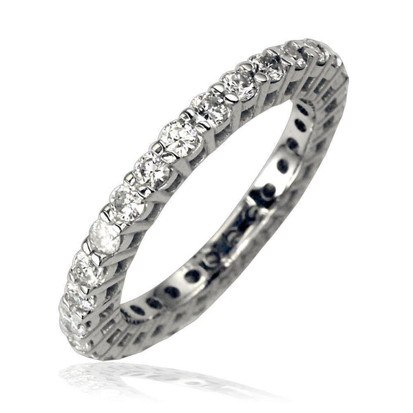 14K White Gold Diamond Eternity Ring, 1.25CT