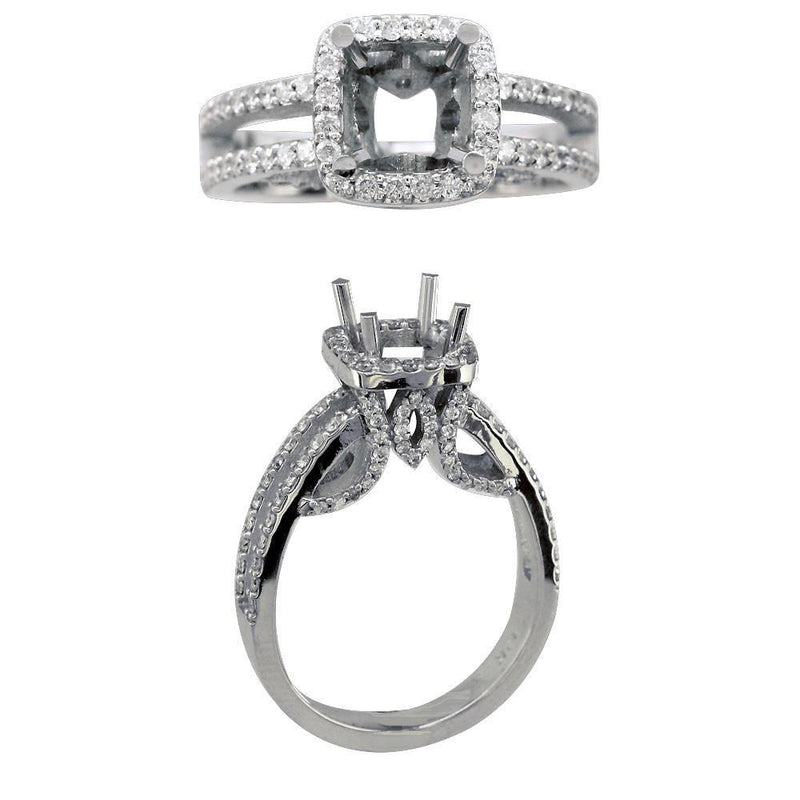 Diamond Halo Engagement Ring Setting, 1.00CT in 14K Gold