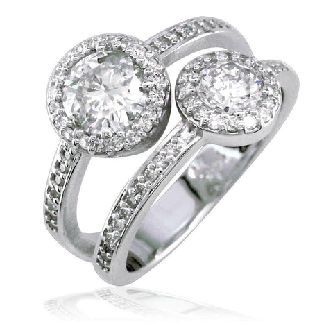 2 Row Diamond Halo Ring LR-K0755