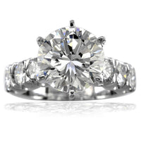 Diamond Engagement Ring Setting in 14K White Gold, 1.29CT