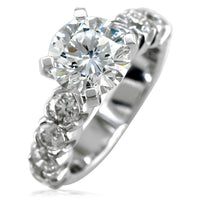 Diamond Engagement Ring Setting in 14K White Gold, 1.20CT