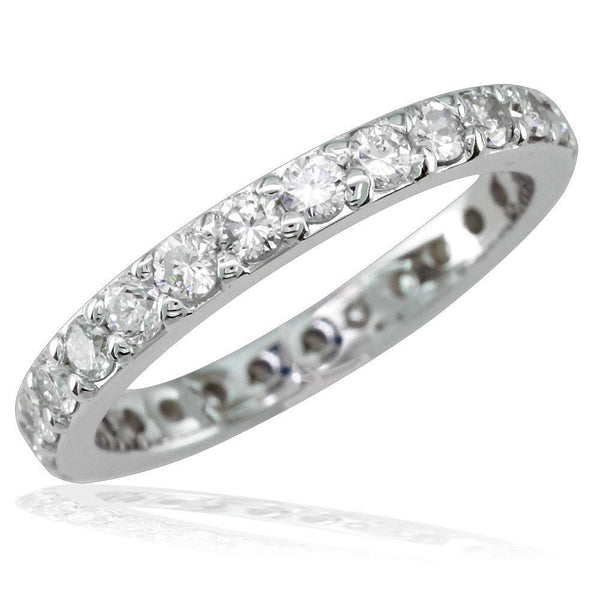 Eternity Wedding Band with Round Diamonds, 1.50CT in 14K White Gold