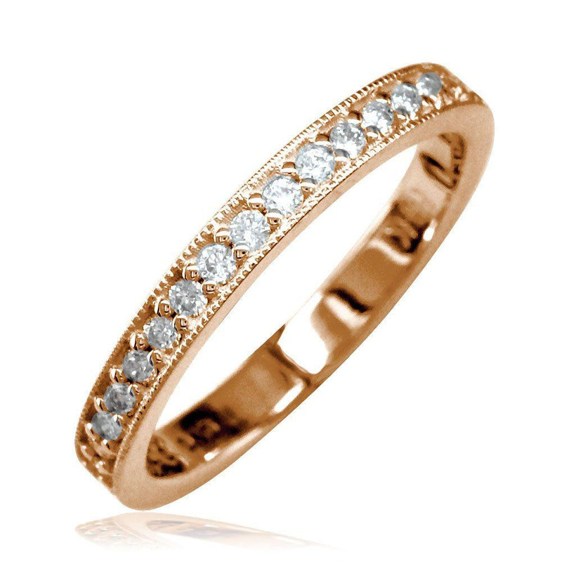 Diamond Wedding Band, 0.38CT in 14K Pink Gold