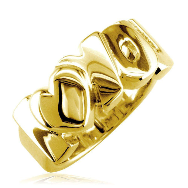 I Love You Heart Ring in 18k Yellow Gold