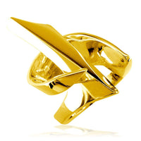 Large Designer Ring in 14k Yellow Gold, 21mm