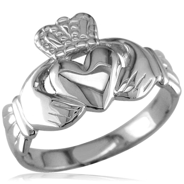 Claddagh Ring in 14k White Gold