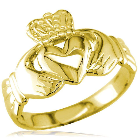 Claddagh Ring in 14k Yellow Gold