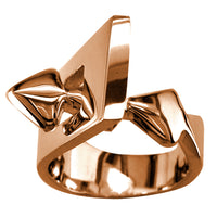 Large Designer Ring in 14k Pink Gold, 14mm