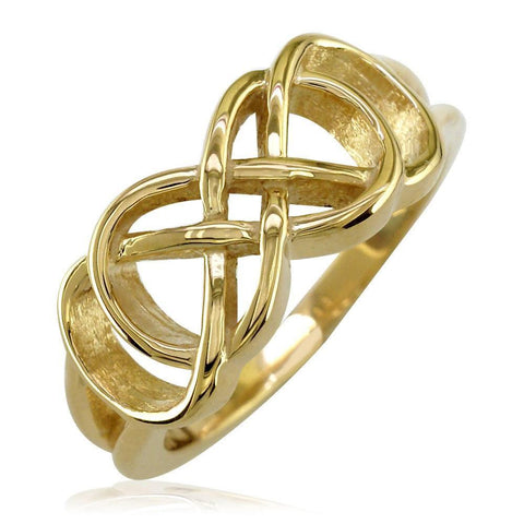 Double Infinity Symbol Ring,Best Friends Forever Ring,8mm in 18k Yellow Gold