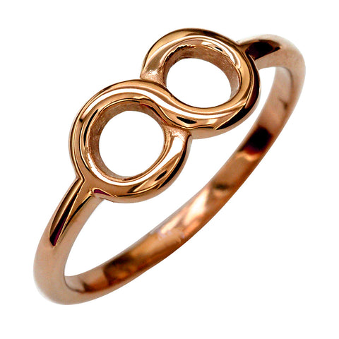 6mm Circular Infinity Ring in 14k Pink, Rose Gold
