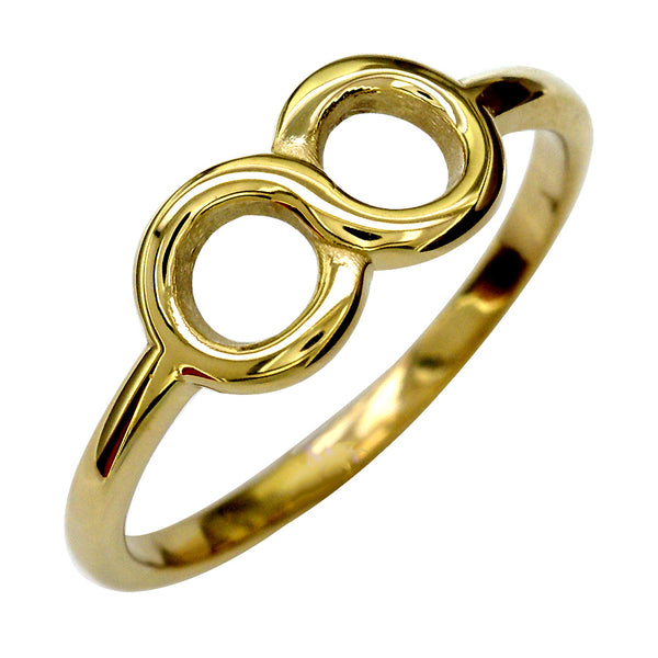 6mm Circular Infinity Ring in 14k Yellow Gold