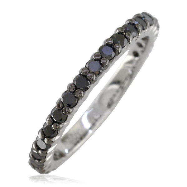Black Diamond Band, 0.70CT in 14k White Gold
