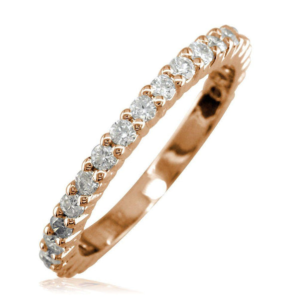 Diamond Band, 0.70CT in 14k Pink, Rose Gold